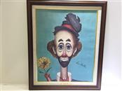 RED SKELTON PRINT FLOWER POWER REPRODUCTION LIMITED EDITION SIGNED